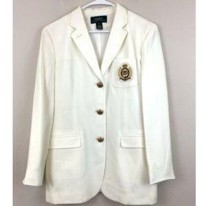 Ralph Lauren VTG Ivory Crescent Blazer Size 12
